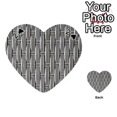 Woven Cords Weave Pattern Texture Textie Playing Cards 54 (Heart)  by Zeze