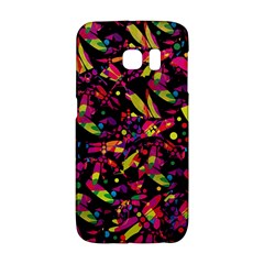 Colorful Dragonflies Design Galaxy S6 Edge by Valentinaart
