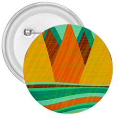 Orange And Green Landscape 3  Buttons by Valentinaart