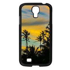 Tropical Scene At Sunset Time Samsung Galaxy S4 I9500/ I9505 Case (black) by dflcprints