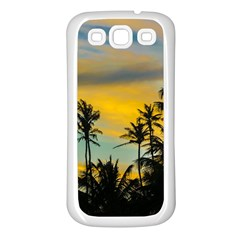 Tropical Scene At Sunset Time Samsung Galaxy S3 Back Case (white) by dflcprints