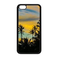 Tropical Scene At Sunset Time Apple Iphone 5c Seamless Case (black) by dflcprints