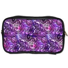 Purple Paisley Visions  Toiletries Bags 2 Side by KirstenStar