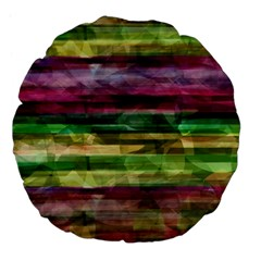Colorful Marble Large 18  Premium Flano Round Cushions by Valentinaart