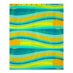 Yellow And Blue Decorative Design Shower Curtain 60  X 72  (medium)  by Valentinaart
