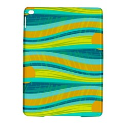 Yellow and blue decorative design iPad Air 2 Hardshell Cases