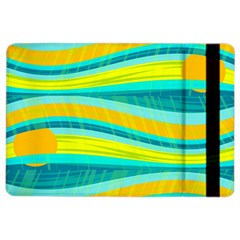 Yellow And Blue Decorative Design Ipad Air 2 Flip by Valentinaart