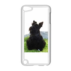 Scottish Terrier Sitting Apple iPod Touch 5 Case (White) by TailWags