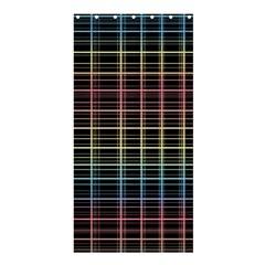 Neon Plaid Design Shower Curtain 36  X 72  (stall)  by Valentinaart