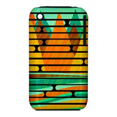 Decorative Autumn Landscape Apple Iphone 3g/3gs Hardshell Case (pc+silicone) by Valentinaart
