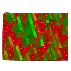 Xmas Trees Decorative Design Cosmetic Bag (xxl)  by Valentinaart