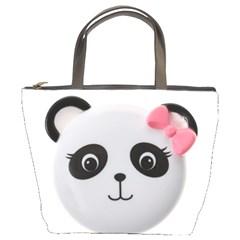 Pretty Cute Panda Bucket Bags by Zeze