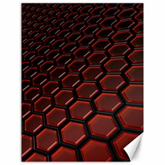 3d Abstract Pattern Hexagons Honeycomb Canvas 12  x 16   by Zeze