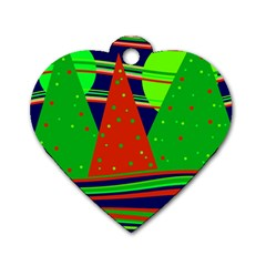 Magical Xmas night Dog Tag Heart (Two Sides)
