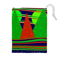 Magical Xmas Night Drawstring Pouches (extra Large) by Valentinaart