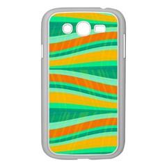 Green And Orange Decorative Design Samsung Galaxy Grand Duos I9082 Case (white) by Valentinaart
