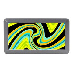 Blue and yellow Memory Card Reader (Mini) by Valentinaart