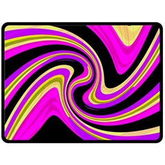 Pink And Yellow Double Sided Fleece Blanket (large)  by Valentinaart