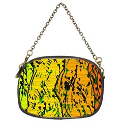 Gentle Yellow Abstract Art Chain Purses (two Sides)  by Valentinaart