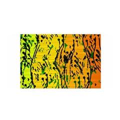 Gentle Yellow Abstract Art Satin Wrap by Valentinaart