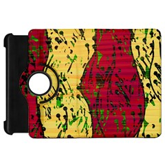 Maroon and ocher abstract art Kindle Fire HD Flip 360 Case by Valentinaart