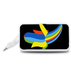 Abstraction Banana Portable Speaker (White)  by AnjaniArt