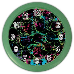 Graffiti Style Design Color Wall Clocks by Valentinaart