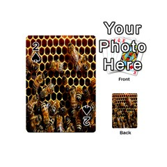 Bees On A Comb Playing Cards 54 (Mini)  by AnjaniArt