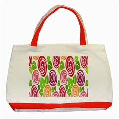 Blue Rose Classic Tote Bag (red) by AnjaniArt
