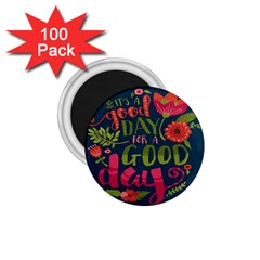 C mon Get Happy With A Bright Floral Themed Print 1 75  Magnets (100 Pack)  by AnjaniArt