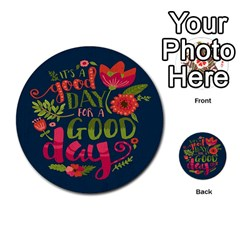 C mon Get Happy With A Bright Floral Themed Print Multi Purpose Cards (round)  by AnjaniArt