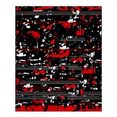 Red Symphony Shower Curtain 60  X 72  (medium)  by Valentinaart