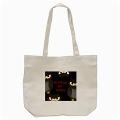 Trick Or Treat   Owls Tote Bag (cream) by Valentinaart