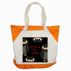 Trick Or Treat   Owls Accent Tote Bag by Valentinaart