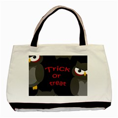 Trick Or Treat   Owls Basic Tote Bag (two Sides) by Valentinaart
