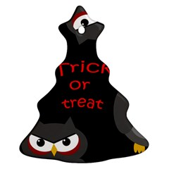 Trick Or Treat   Owls Christmas Tree Ornament (2 Sides) by Valentinaart