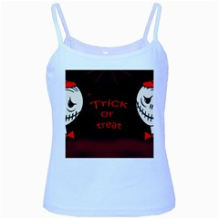 Trick Or Treat 2 Baby Blue Spaghetti Tank by Valentinaart