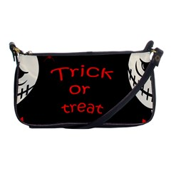 Trick Or Treat 2 Shoulder Clutch Bags by Valentinaart