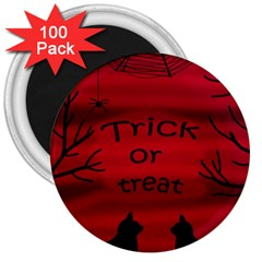 Trick Or Treat   Black Cat 3  Magnets (100 Pack) by Valentinaart