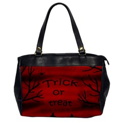 Trick Or Treat   Black Cat Office Handbags by Valentinaart