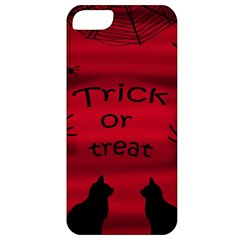 Trick Or Treat   Black Cat Apple Iphone 5 Classic Hardshell Case by Valentinaart