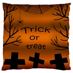 Trick Or Treat   Cemetery  Large Flano Cushion Case (two Sides) by Valentinaart