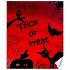 Trick or treat - Halloween landscape Canvas 8  x 10