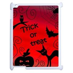 Trick or treat - Halloween landscape Apple iPad 2 Case (White)