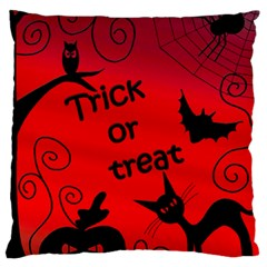 Trick Or Treat   Halloween Landscape Standard Flano Cushion Case (one Side) by Valentinaart