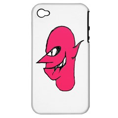 Devil Face Character Illustration Apple Iphone 4/4s Hardshell Case (pc+silicone) by dflcprints