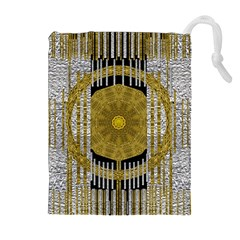 Silver And Gold Is The Way To Luck Drawstring Pouches (extra Large) by pepitasart