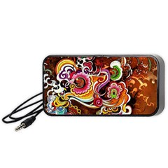 Abstract Abstraction Color Bright Portable Speaker (Black)  by Zeze