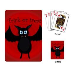 Halloween Bat Playing Card by Valentinaart