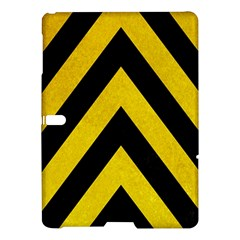 Construction Hazard Stripes Samsung Galaxy Tab S (10.5 ) Hardshell Case  by AnjaniArt